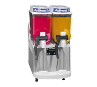 34000.0079 ULTRA-2 High Performance Ultra Gourmet Ice® Frozen Drink Machine, counter model, (2) 3 gallon hoppers, internally monitored refrigeration system, touchpad display, reversing auger design freeze time & reduces air mixing, stainless steel & white decor, cord attached, 120v/60/1-ph, 12amps, NEMA 5-15P, NSF, ETL