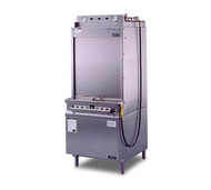 Pot & Pan Washer, front load, 12 pan capacity per cycle, three position wash selector (300, 420 or 540 seconds), automatic fill, support/utility rack system, pan washer clean up hose & spray gun, lift-up door design, stainless steel construction, ETL, NSF