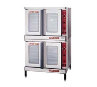 "Convection Oven, electric, double-deck, standard depth, capacity (5) 18"" x 26"" pans per compartment, 2-speed fan, interior light, simultaneous operated doors with glass, porcelain crumb tray, stainless steel front, sides & top, vent connector, 6"" stainless steel legs, vent connector, 11.0 kW each, 1/3 hp, cETL, CE, NSF, ENERGY STAR"