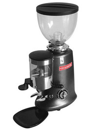 """Venezia II Espresso Grinder, manual on/off mechanical timer grinds coffee to refill fixed doser chute, 1 or 2 dose (5.5 to 9.0 g) dispenser, 2-1/2"""" grinding blades, 3.0 lb. hopper capacity, adjustable grind setting, universal tamper, removable drip tray, cast aluminum frame, 120v/60/1-ph, 350 Watts, 3 amps, NEMA 5-15P, cETLus"""