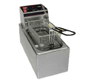 Countertop Fryer, electric, 6 lb fat capacity, removable stainless steel tank, temperature controls, stainless steel construction, 1.8 kw, 120v/60/1-ph, NEMA 5-15P, cULus (Cecilware)
