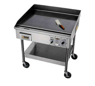 """Accu-Steam™ Griddle, includes stand with casters, electric, 48"""" x 29"""" griddle area, 8 ga. 304 stainless steel cooking surface, solid state thermostat, 4"""" grease trough, 14 ga. stainless steel cabinet, 208/60/3-ph, 14.25kw, 39.56 amps, 5' cord & NEMA 15-50P. Works on 50 Hz"""