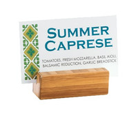 "Card Holder Base Only, 2-1/4""W x 3/4""D x 3/4""H, bamboo, BPA Free"