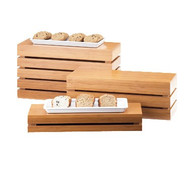 """Crate Riser, rectangle, 20""""W x 7""""D x 3""""H, flip to utilize as a basket, bamboo"""