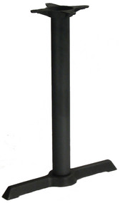 "Table Base, indoor, 30"" x 30"" base spread, 3"" dia. column, dining height, cast iron, black powder coat finish"