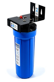 "300 Series Water Filter System, 10,000 gallons (37,854 liters) capacity, KDF® triple water processing, removes or reduces limescale/chlorine/lead/algae & slime/bad taste & odor/bacteria, 100° F max temperature, includes: model 52645 cartridge, bracket, o-ring, 20-100 PSI, 2.5 GPM, 1/2"" female NPT (for small ice machines, small steamers, small beverage equipment), NSF"