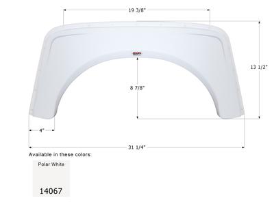 Aliner Single Axle Fender Skirt FS4067