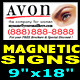 "AVON Magnetic Sign 9""x18"" ( FREE SHIPPING )"