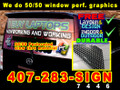 Perforated Graphic for Vehicle REAR Window  LOCAL INSTALLATION