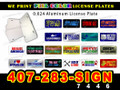 License Plate  0.024 Thickness Aluminum custom print LOCAL PICKUP