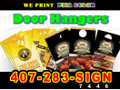 "1000 Full Color Full Door Hangers 4""x 9"" Two Sided 14 Point Card Stock"