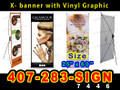 X-Banner Sign & Stand Full Color Custom Print  [LOCAL PICKUP]