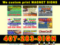 Magnetic Sign 18x24 Full Color Custom Printing set of 2 signs  ( FREE SHIPPING )