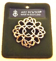 Art Pewter Round Celtic Knot Brooch