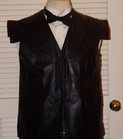 Men's Black Leather Vest