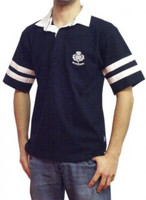 Short-Sleeved Two Striped Scotland Rugby Polo