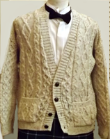 Men's British Wool Cardigan Sweater
