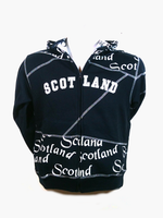 This hoodie says Scotland!  It also says Scotland, Scotland, Scotland, and Scotland!