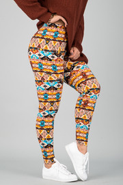 Pattern Print Leggings || 4