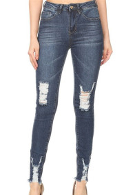 Alexa 3 Ankle  Distressed Denim