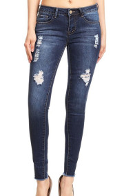 Alexa 1 Ankle  Distressed Denim