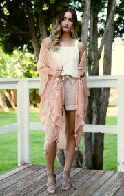 Cassi Kimono | Peach