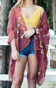 Fumika Kimono   Rust