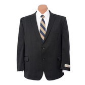 Petrocelli by Eisenberg Wool Blend Charcoal Stripe Suit Coat