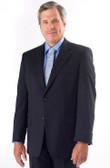 Petrocelli by Eisenberg Wool Blend Navy Stripe Suit Coat