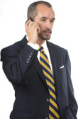 Petrocelli by Eisenberg Wool Blend Black Stripe Suit Coat