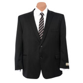 Petrocelli by Eisenberg Wool Blend Solid Black Suit Coat