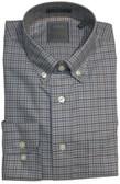 Enro Non-Iron Gray Check Button Down Collar Sportshirt