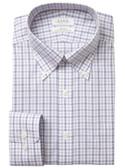 Enro Non-Iron Button Down Collar Index Dobby Check Dress Shirt
