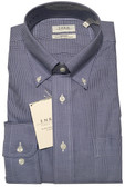 Enro Non-Iron Button Down Collar Mini Check Dress Shirt