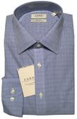 Enro Non-Iron Spread Collar Blue Mini Grid Dress Shirt