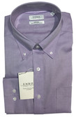 Enro Non-Iron Button Down Collar Newton Pinpoint Solid Oxford Dress Shirt