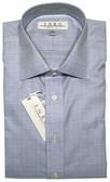 Enro Non-Iron Spread Collar Blue Plaid Dress Shirt
