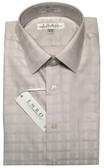 Enro Non-Iron Spread Collar Grey Tonal Grid Dress Shirt