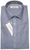 Enro Non-Iron Spread Collar Blue Check Dress Shirt
