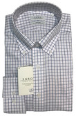 Enro Non-Iron Button Down Collar Pink Check Big & Tall Dress Shirt