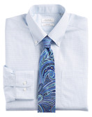 Enro Non-Iron Button Down Collar Pittsfield Check Big & Tall Dress Shirt