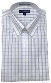 Enro/Damon Ultra Poplin Button Down Collar Purple Check Dress Shirt - 130146