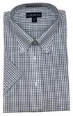 Enro/Damon Ultra Poplin Button Down Collar Short Sleeve Multi Check Dress Shirt - 151586