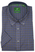 Forsyth of Canada Classic Fit Non-Iron Short Sleeve Mini Check Sport Shirt 8155S-ROY