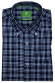 Forsyth of Canada Classic Fit Non-Iron Long Sleeve Grid Check Sport Shirt 8244-COB