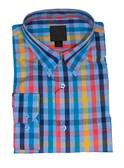 Fusion Blue Multi Check Sportshirt
