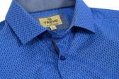 Trend by Fusion Navy/Blue Geo Print Sportshirt
