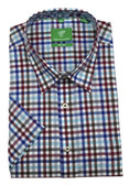 Forsyth of Canada Classic Fit Non-Iron Short Sleeve Multi Check Sport Shirt 8168S-MUL