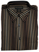 Fusion Taupe and Black Vertical Stripe Big & Tall Sportshirt