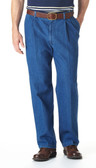 Haggar Work To Weekend Denim Pleated Front Men's Pants